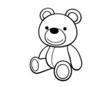 A teddy bear coloring page