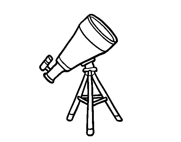 A telescope coloring page