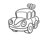 A toy car coloring page