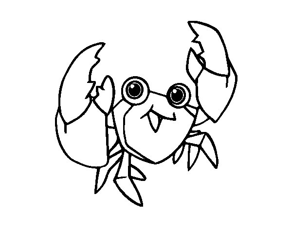 A velvet crab coloring page
