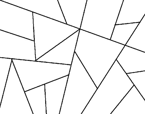 Abstract drawing coloring page