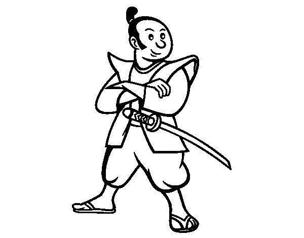 Adult Samurai coloring page