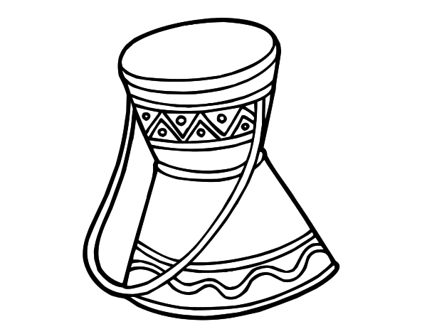 drums coloring page - african drum coloring page