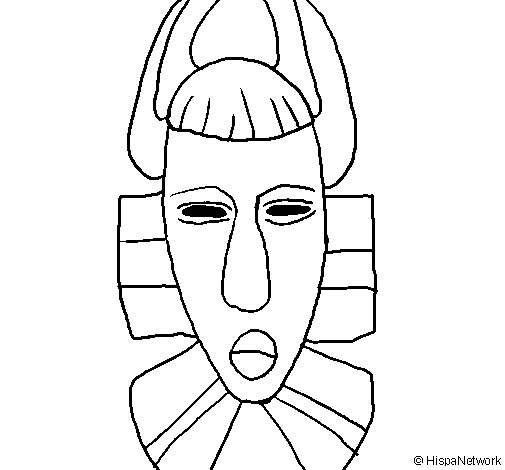 African mask coloring page - Coloringcrew.com