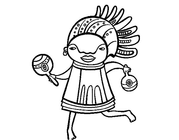 African native coloring page