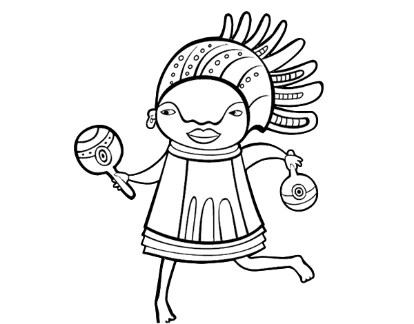 African native coloring page for African culture coloring pages