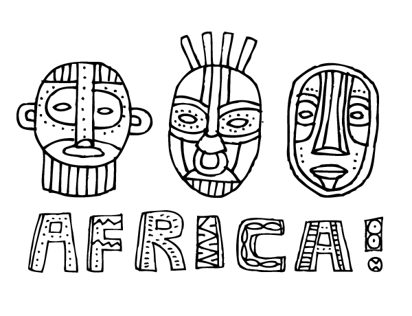 african culture coloring pages african tribes coloring page