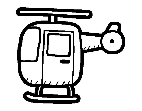 Agile helicopter coloring page