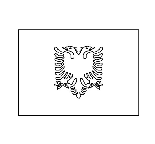 Albania Coloring Page