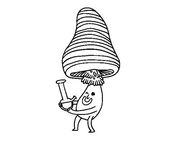 Alchemist mushroom coloring page
