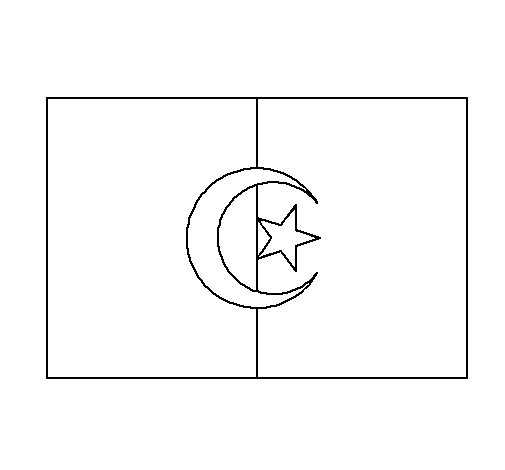Morocco flag coloring coloring pages for Flag of morocco coloring page