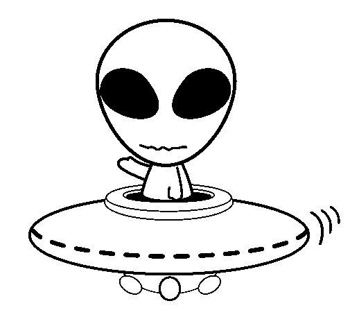 Alien coloring page