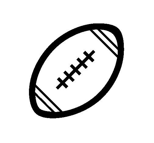 American football ball II coloring page