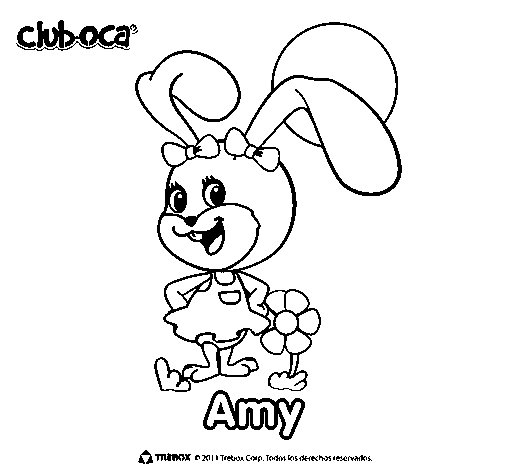 Amy coloring page