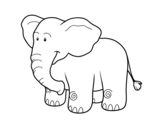 An African elephant coloring page