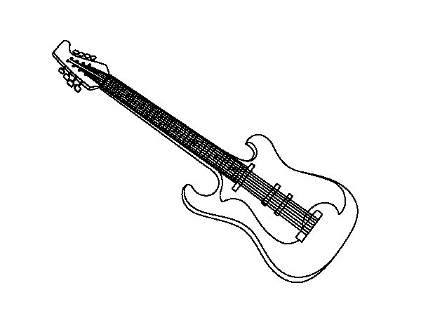 An electric guitar coloring page