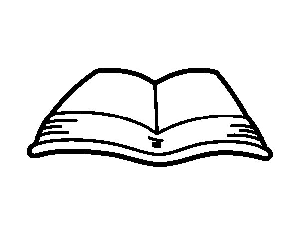 an open book coloring page - Open Book Coloring Page