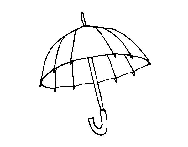 An umbrella coloring page
