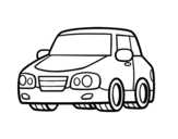 An urban car coloring page