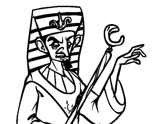 Angry Pharaoh coloring page
