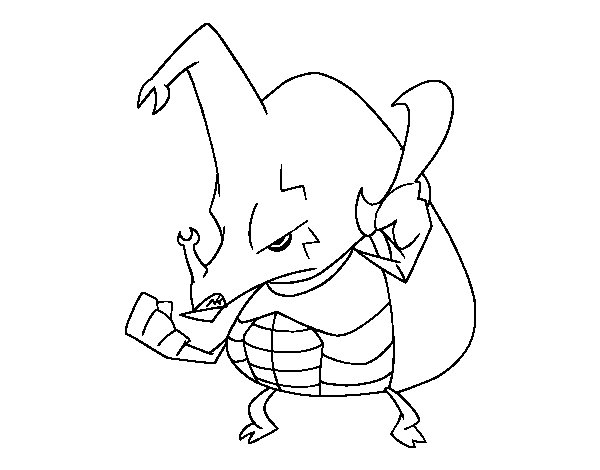 Angry rhinoceros beetle coloring page