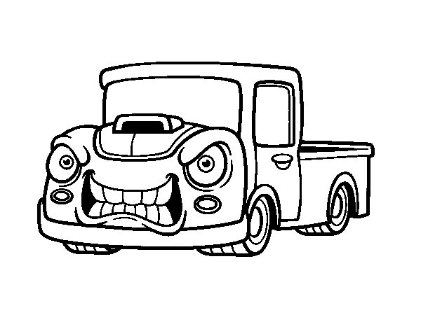 Angry van coloring page