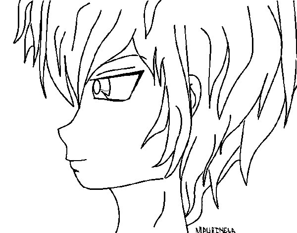 Anime Boy 2 Coloring Page Coloringcrew Com Anime Boys Coloring Pages