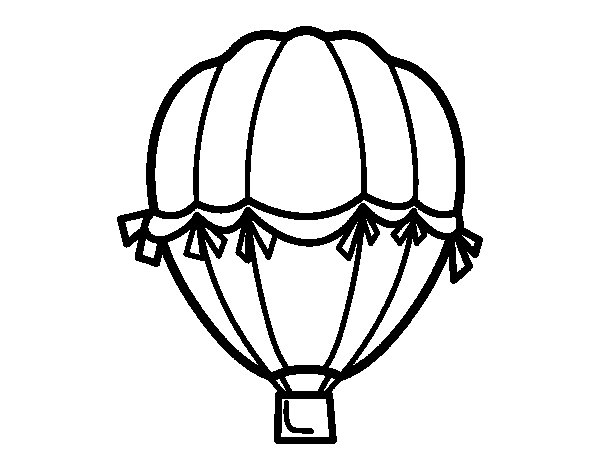 Antique balloon coloring page