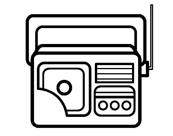 antique radio coloring page coloringcrew