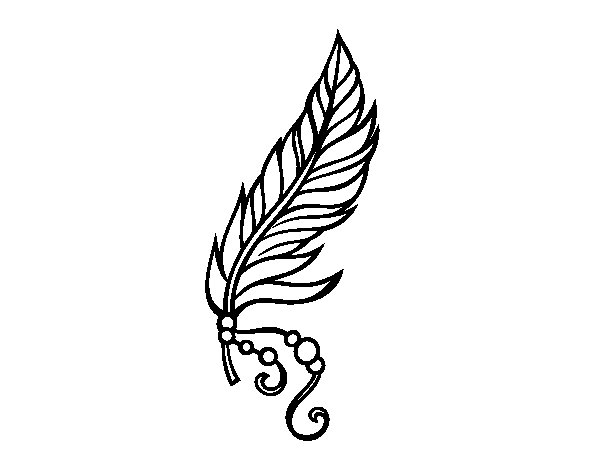 Apache feather coloring page