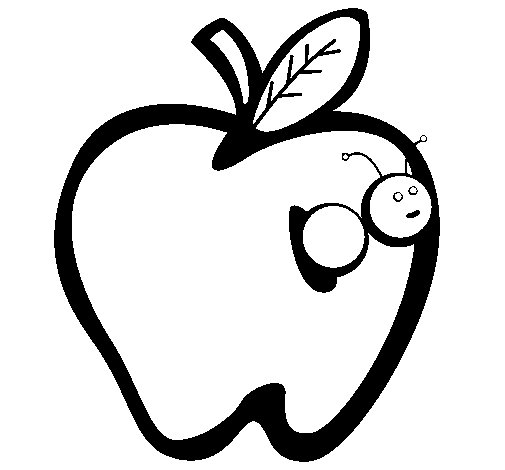 apple iii coloring page - Slice Watermelon Coloring Page