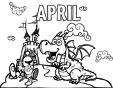 April coloring page