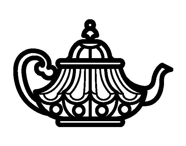 Arabic Teapot coloring page Coloringcrewcom