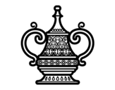 Arabic vase coloring page