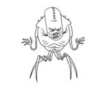 Arachnid alien coloring page