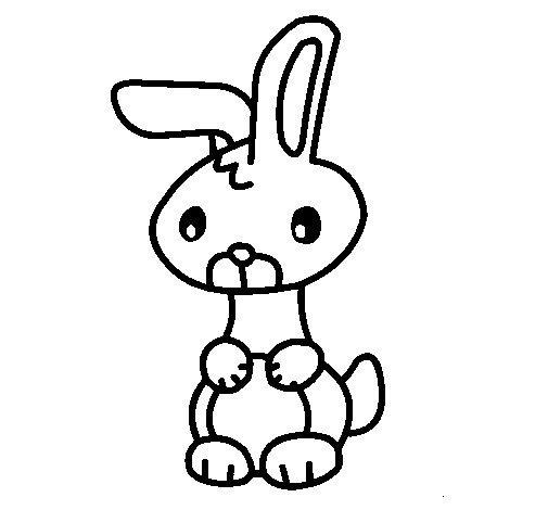Art the rabbit coloring page