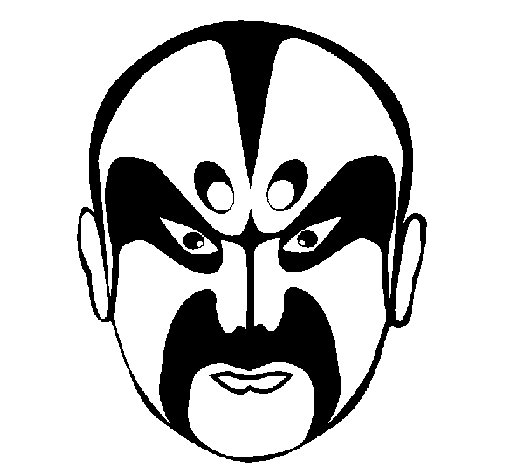 Asian wrestler coloring page