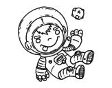 Dibujo de Astronaut boy