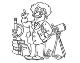 Astronomer coloring page