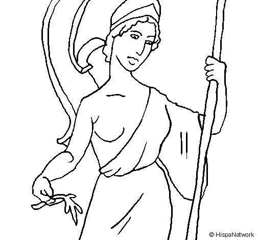Athena coloring page