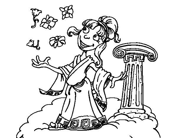 Athena goddess coloring page