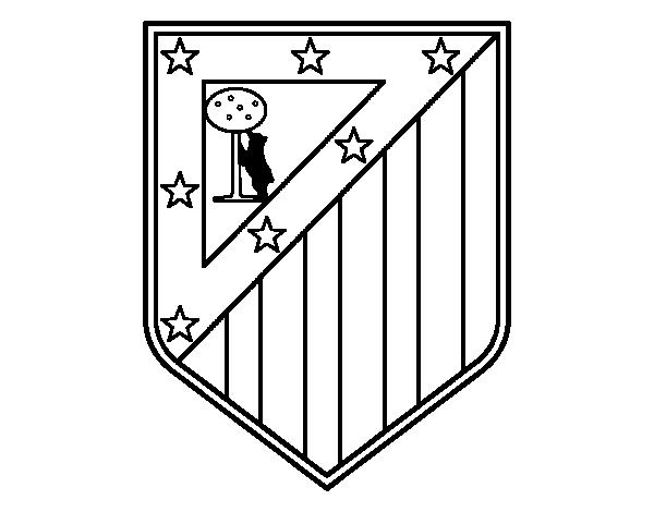 Célèbre Atlético Madrid crest coloring page - Coloringcrew.com KB45