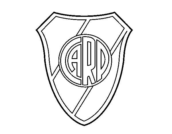 Atlético River Plate crest coloring page