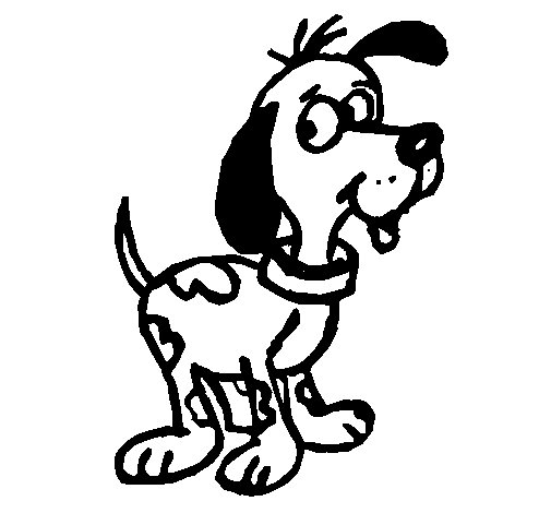 Attentive dog coloring page