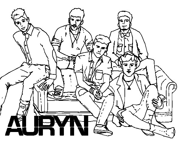 Auryn Boyband coloring page