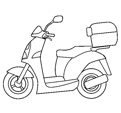 Autocycle coloring page