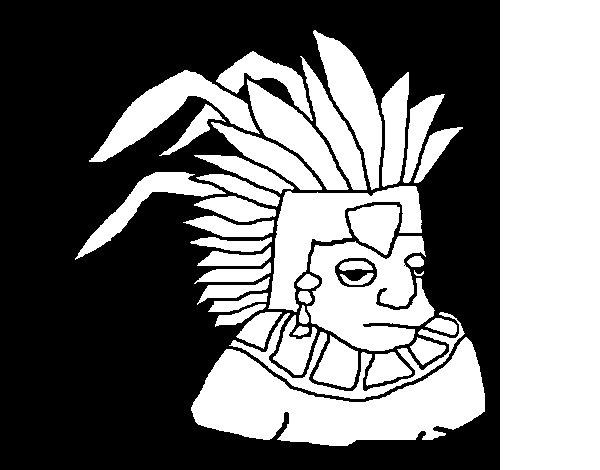 Aztec coloring page