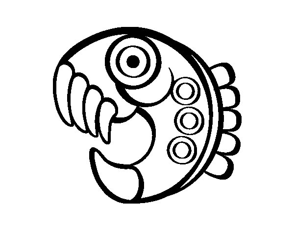 Aztec figure coloring page