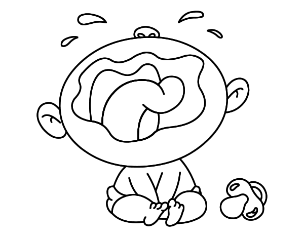 Baby crying coloring page Coloringcrew
