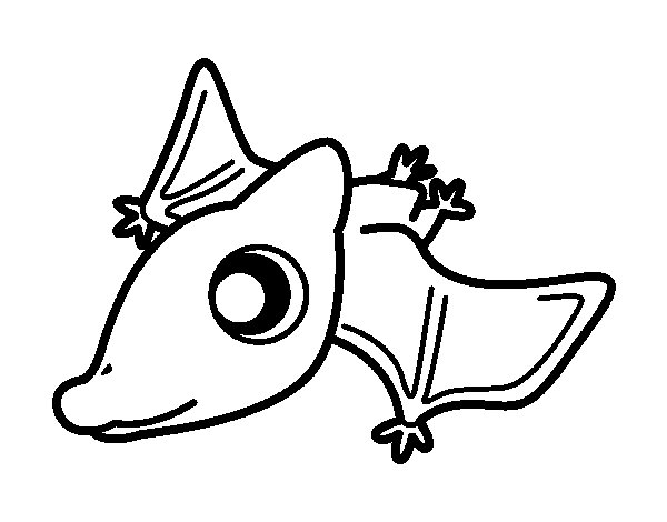 Baby Pterodactylus coloring page